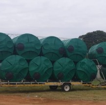 Water tanks in transit to municipalities across SA